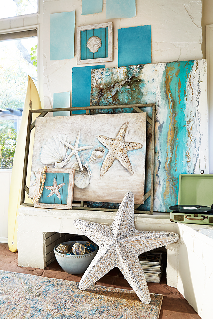 From breezy bedrooms to see-worthy patios and everywhere in between, Pier 1's coastal trend encourages you to kick back and relax in an ocean-inspired setting. Adding a few seaside accents is a good way to start. Check out all of our coastal looks to get fun ideas and create your own unique coastal style.