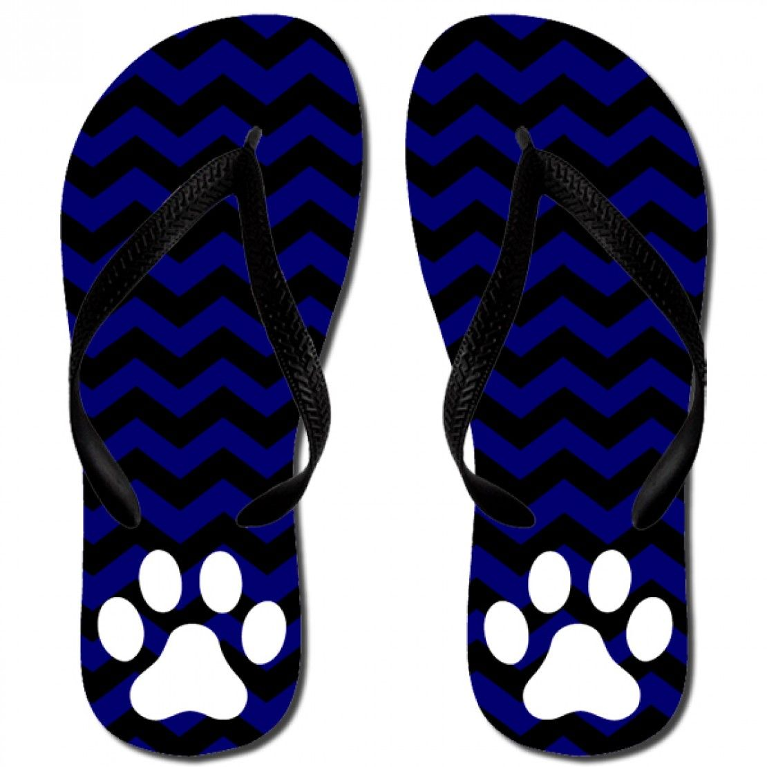 Katydid Blue Chevron Paw Women's Flip Flop Designed by Katydid flip flops  are unisex sizing.