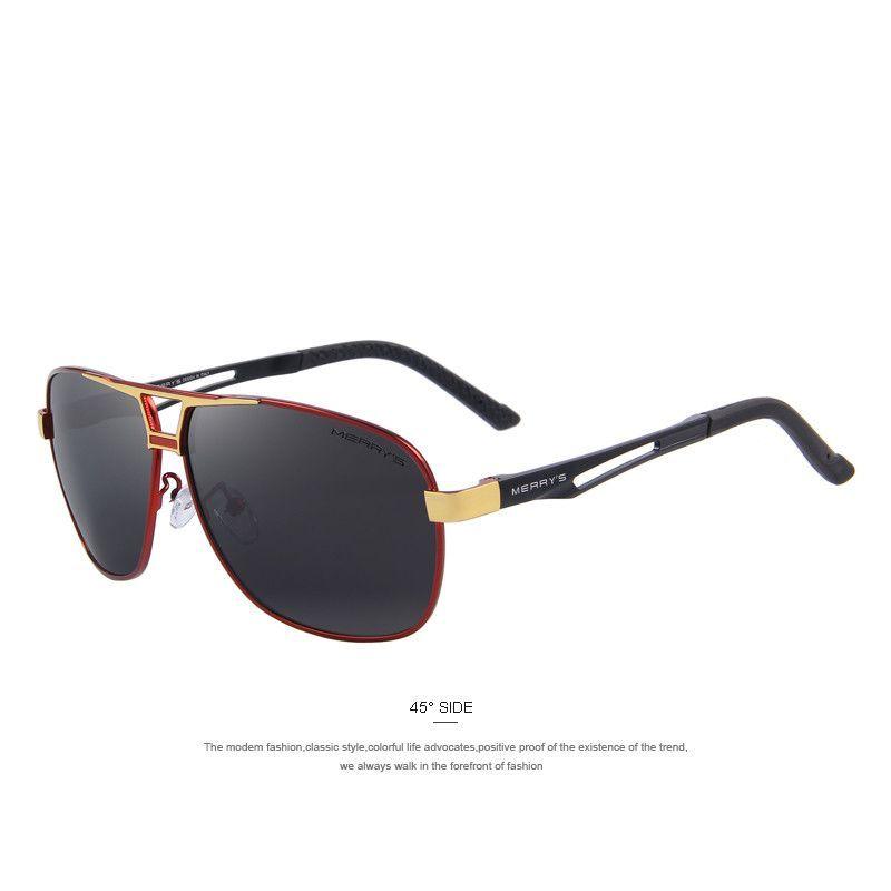 aa4aa9cdf5 Rectangle Sunglasses HD Polarized Aluminum Driving Sun glasses ...