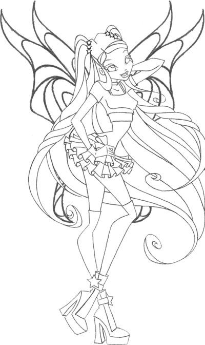 stella speedix wings by an81angel coloring pages color