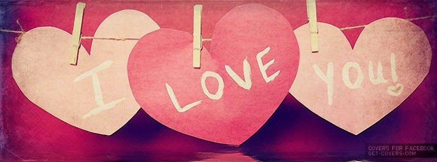 I Love You Portada Facebook Con Corazones Imagenes De Amor