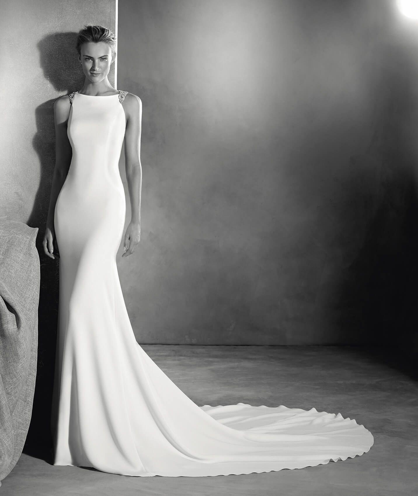 EMMETT - Mermaid Wedding Dress In Crepe.