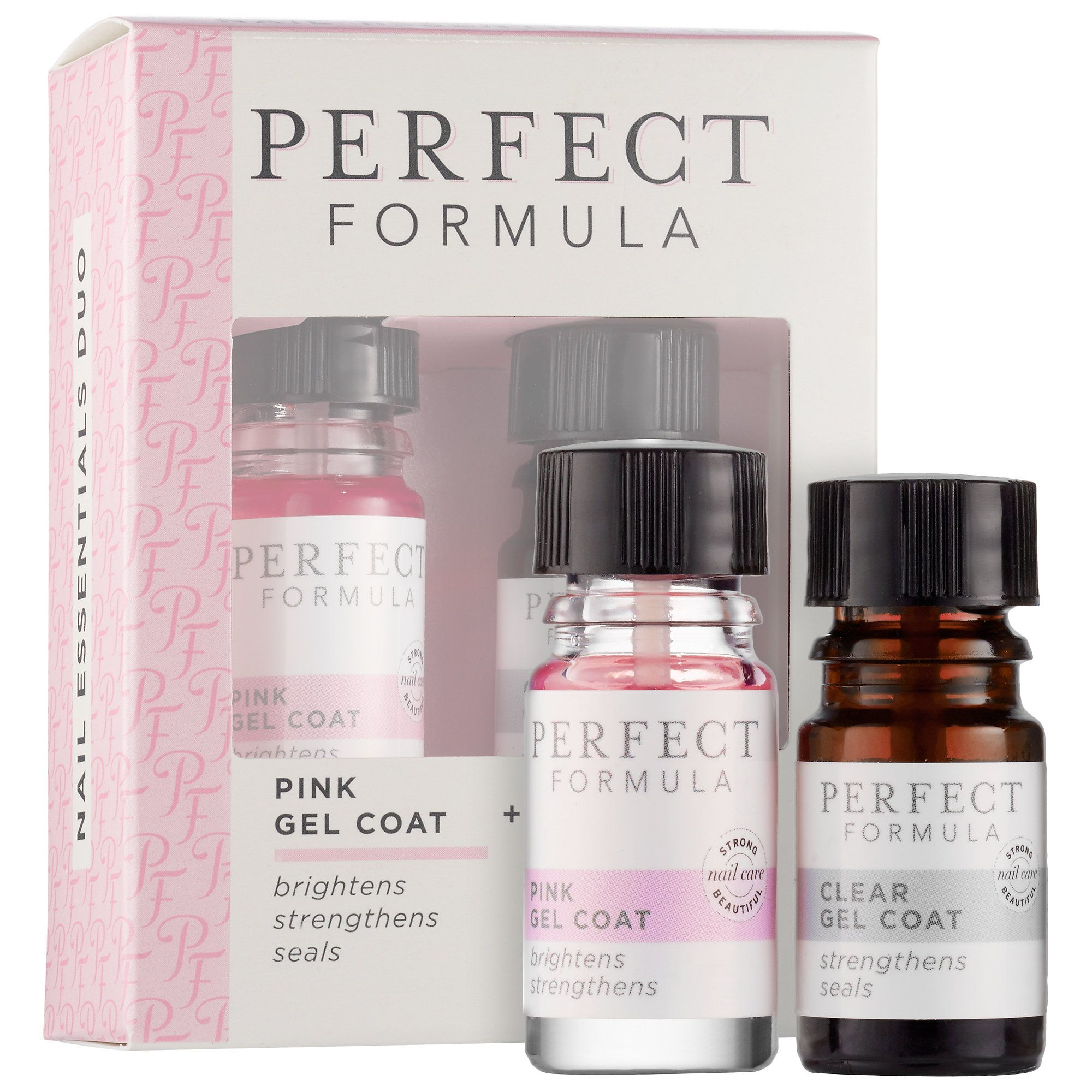 What it is: A set of sheer pink, clear keratin protein treatments ...