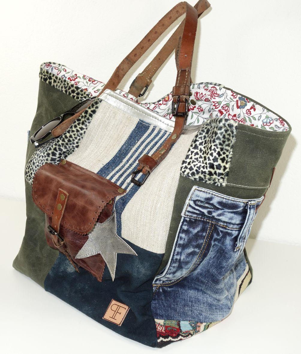 Sac - Tasche | Purses | Pinterest | Taschen nähen, Jeanstasche und Nähen