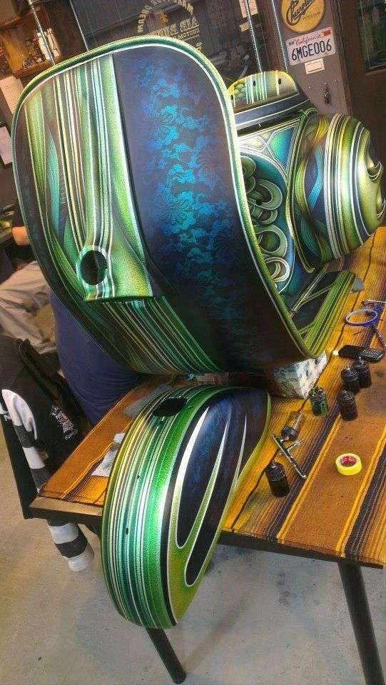 Custom Vespa Artist Jeffrey Chang Pinteres