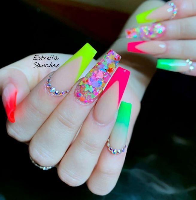 13+ Unique Spring Nail Art Design Ideas  Fashionable is part of Prom nails Black Lace - 13+ Unique Spring Nail Art Design Ideas  Jewelry and Accessories  Fashionable