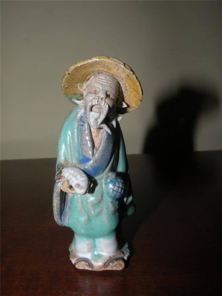 Antique Chinese Mudman Mudmen Pottery Figurine | eBay