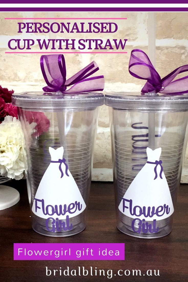 Flower girl tumbler cup flower girl gift wedding tumbler