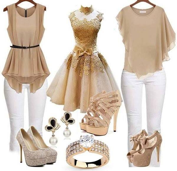Gold Everything Vestido De Festa Madrinha Vestidos Looks