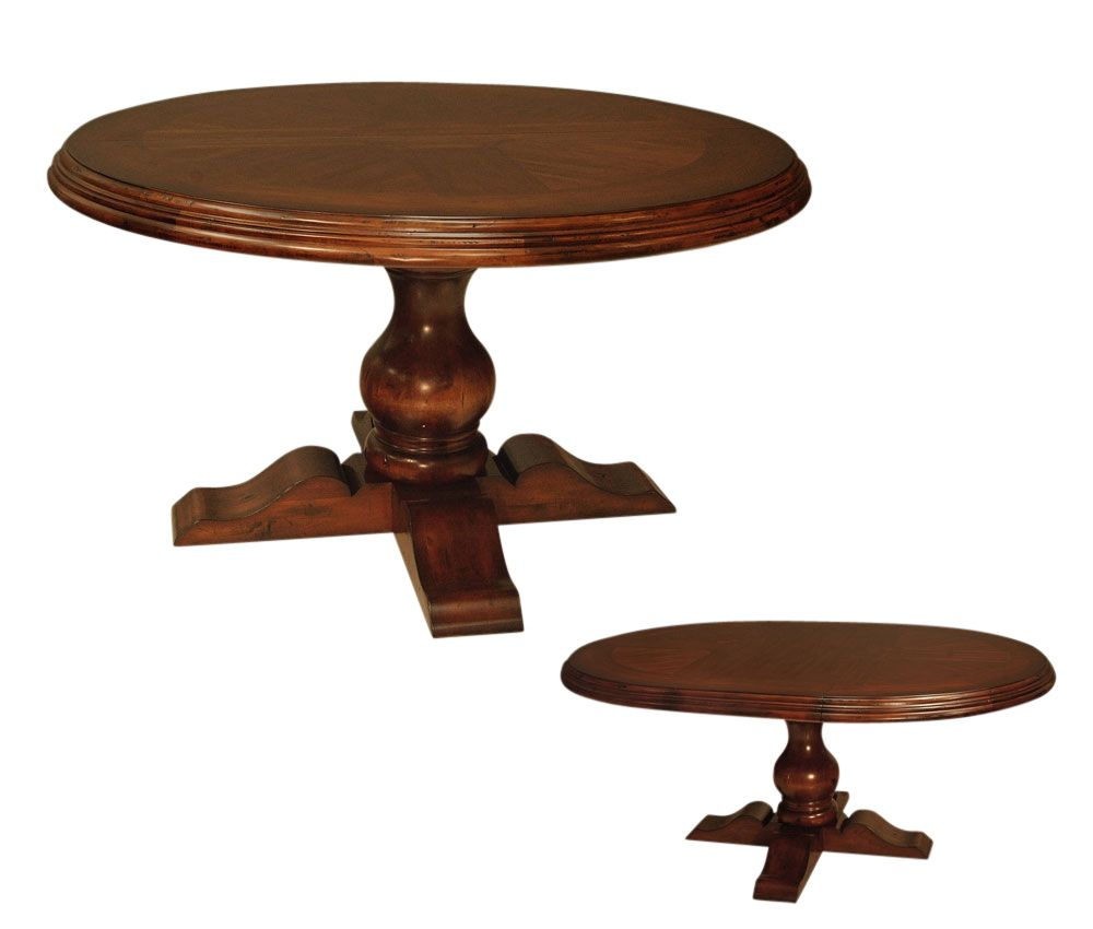 54 Round Tuscan Style Dining Room Table