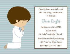 Invitación primera comunión niño archivo por SweetDesignsbyRegan