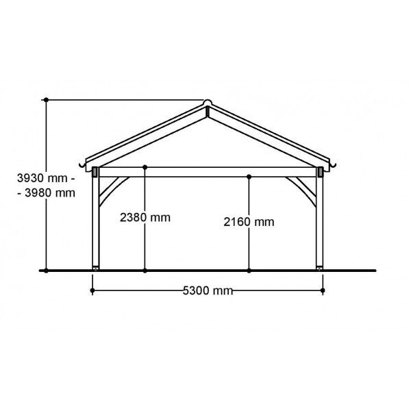 3 Bay Carport Post Beam Green Oak Or Douglas Fir 28 Pitch Roof Modern Roofing Roof Repair Roof Styles