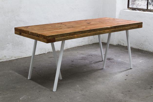 Esstische HolztischPlatte Bauholz Dielen 180 x 90 cm
