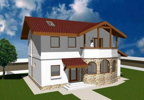 fachadas de casas de dos plantas pequeñas Diseño de