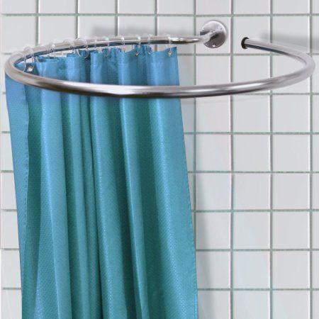 LOOP - Stainless Steel Circular Shower Rail and Curtain Rings ...