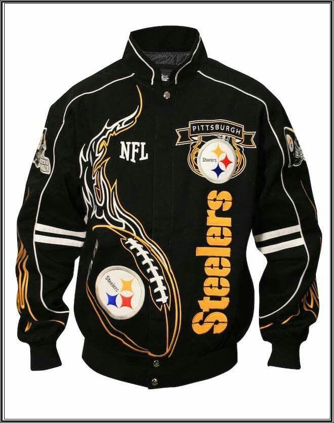 release date ec97a 232bf Biker jacket | Pittsburgh Steelers!!!!! | Steelers jacket ...