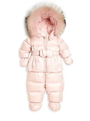 69299029af3f Add Down Baby s Two-Piece Fur-Trim Down Jacket Snow Suit Set ...