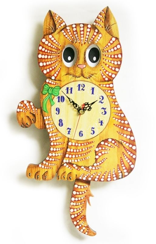 Детские настенные часы Кошка с бантиком Бризоль Механизм ...