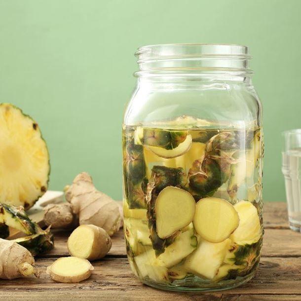Detox water ananas et gingembre | Recette | Detox citron