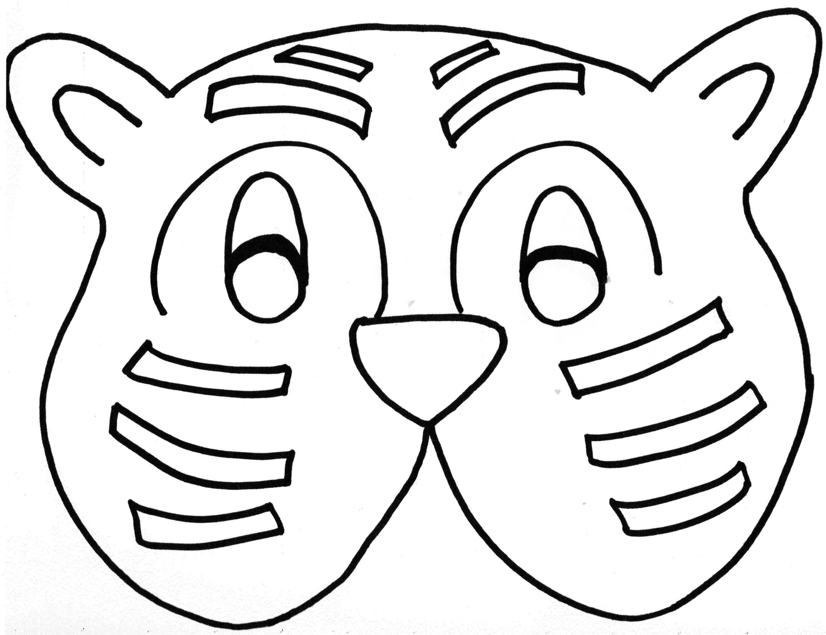 Tiger Who Came To Tea Mask With Images