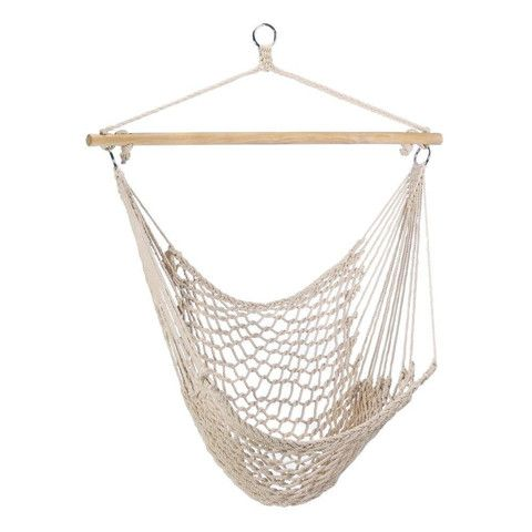 New White Hammock Chair Lounge Outdoor Patio Porch
