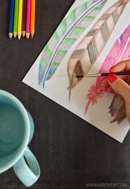 Virginia How To Use Watercolor Pencils Watercolor Pencils