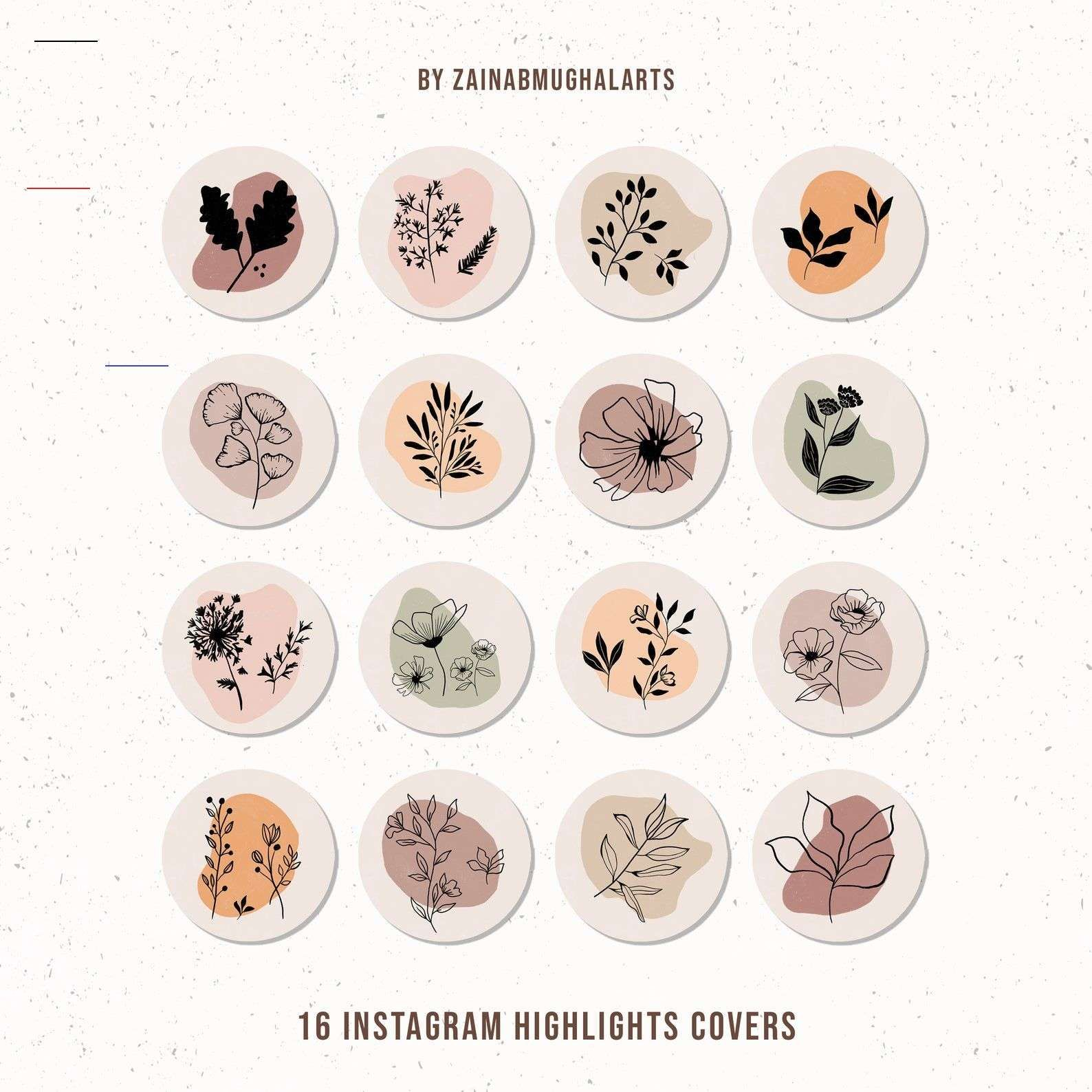 Botanicals Wildflowers Instagram Highlight Covers