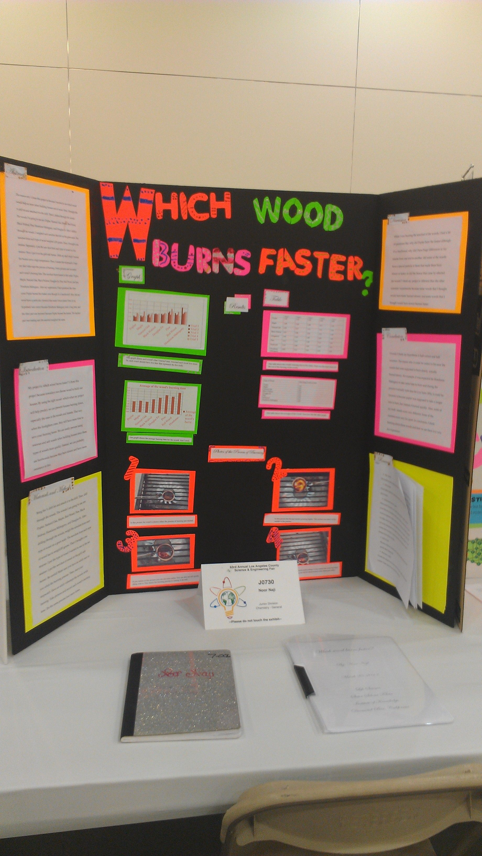 7th grade science fair project by noor naji: 2013 la county science