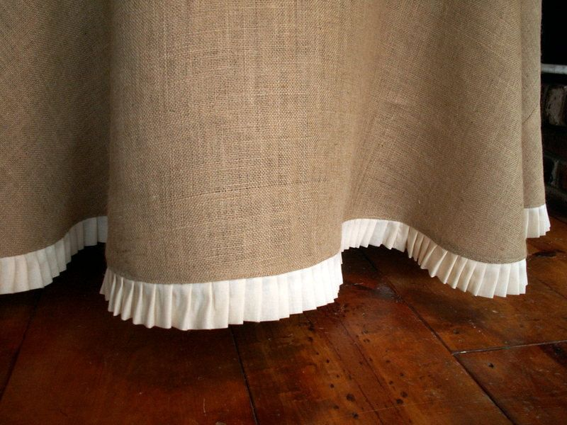 Burlap Tablecloth With Muslin Ruffle  Easy Way To Dress Up Any Table |  Sewing | Pinterest | Burlap Tablecloth, Burlap And Craft