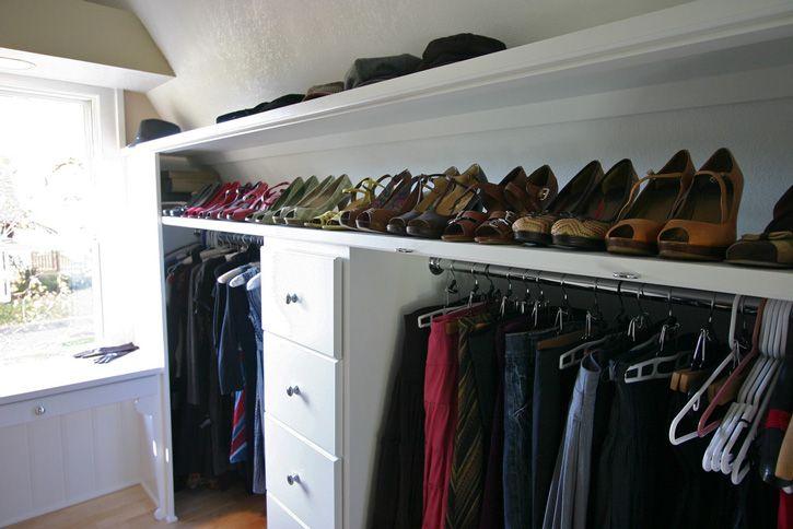 Pin By Innovativelyorganizd On Closet Organizing Attic Renovation Attic Closet Attic Flooring