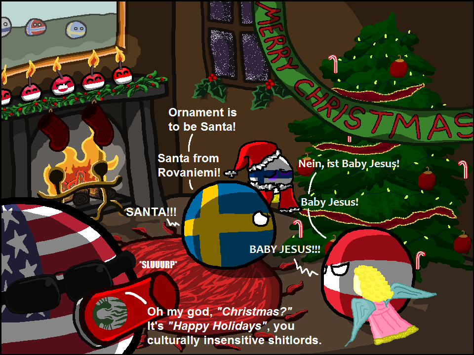 Polandball Advent Calendar 2015 Day 4 Happy Baby Christ