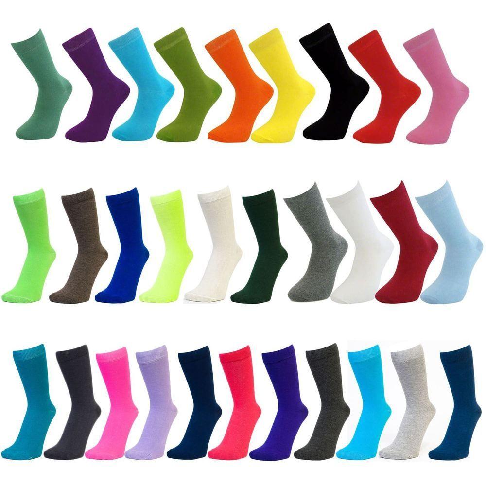 Mens Plain Coloured Mid Calf Ankle Crew Short Socks New Lot