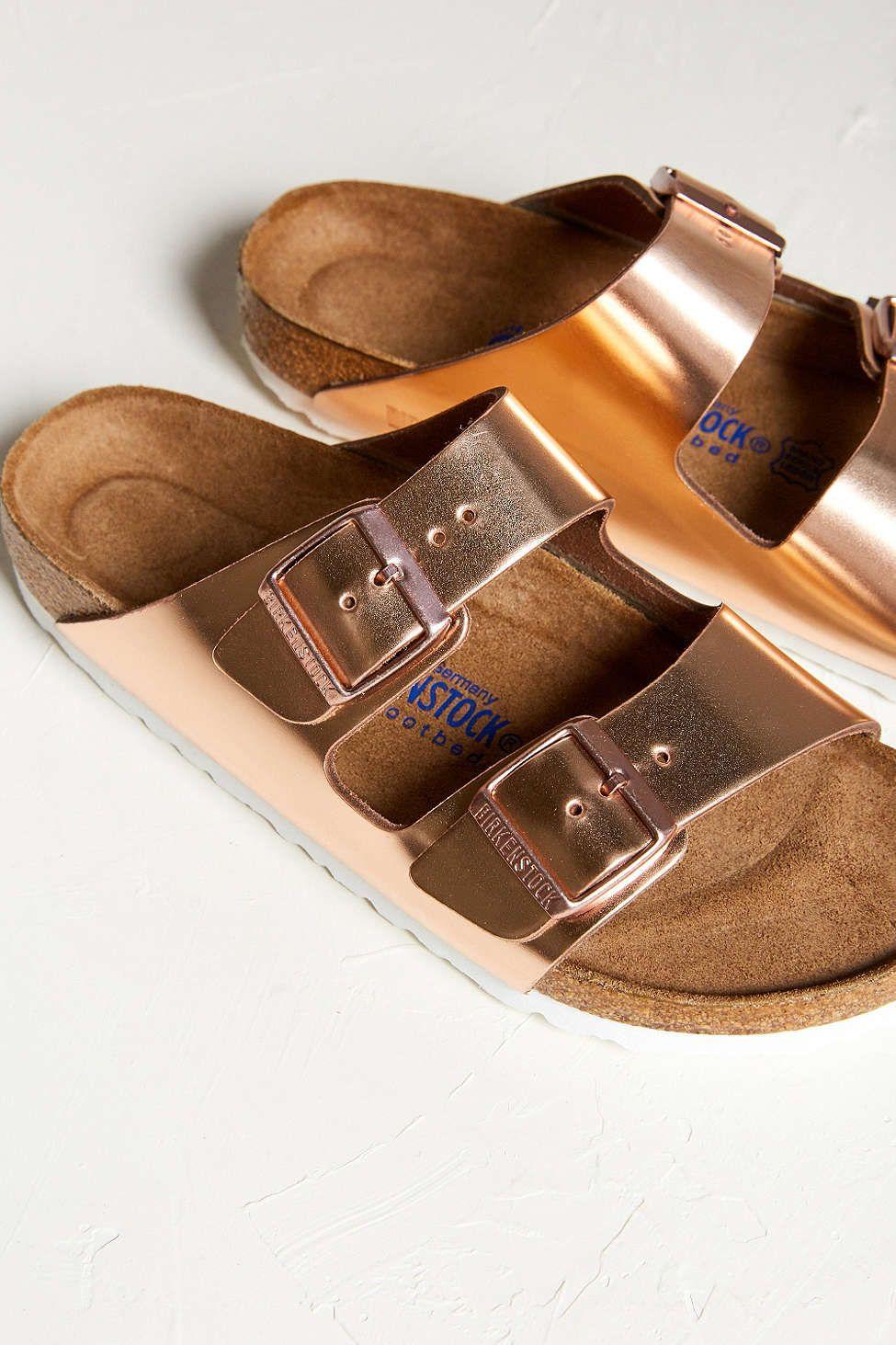 Birkenstock Metallic Arizona Slide - Urban Outfitters