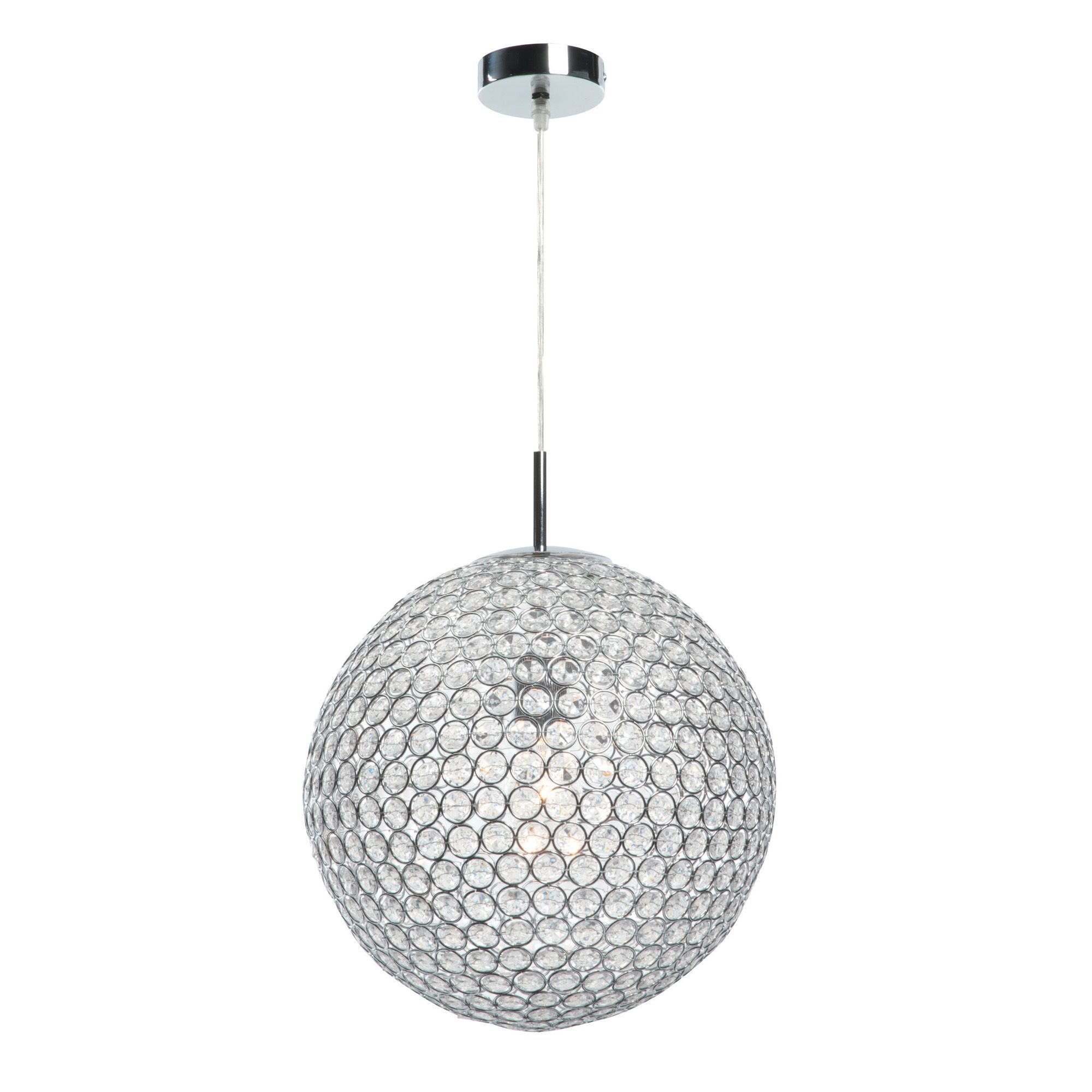 Lopez crystal bead chrome effect pendant ceiling light ceiling lopez crystal bead chrome effect pendant ceiling light mozeypictures Image collections