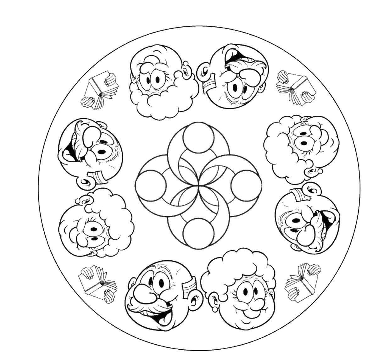 Ausmalbilder Opas Geburtstag : Mandala Opa Oma Kleuters Pinterest Handlettering