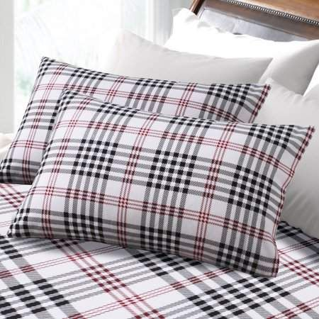 Tribeca Living Heavyweight 200 Gsm Plaid Printed Extra Deep Pocket Flannel Sheet Set Twin Flannel Bed Sheets King Sheet Sets Tribeca Living