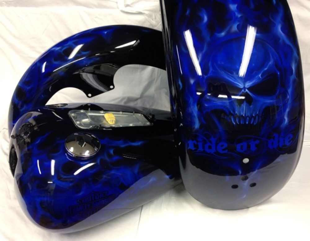 How to Paint a Motorcycle - Harley Custom Motorcycle Paint ...