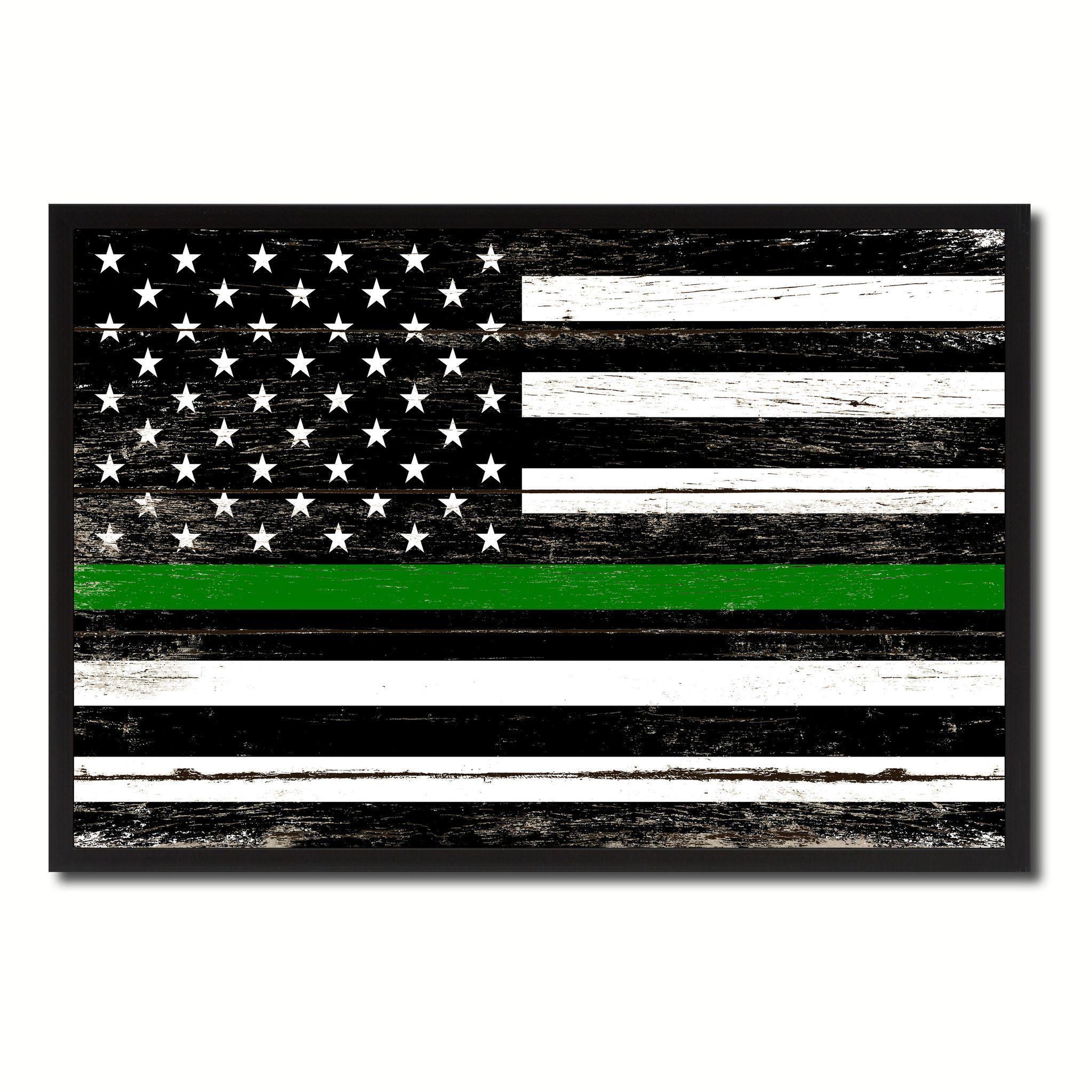 Vintage American Flag Framed Art