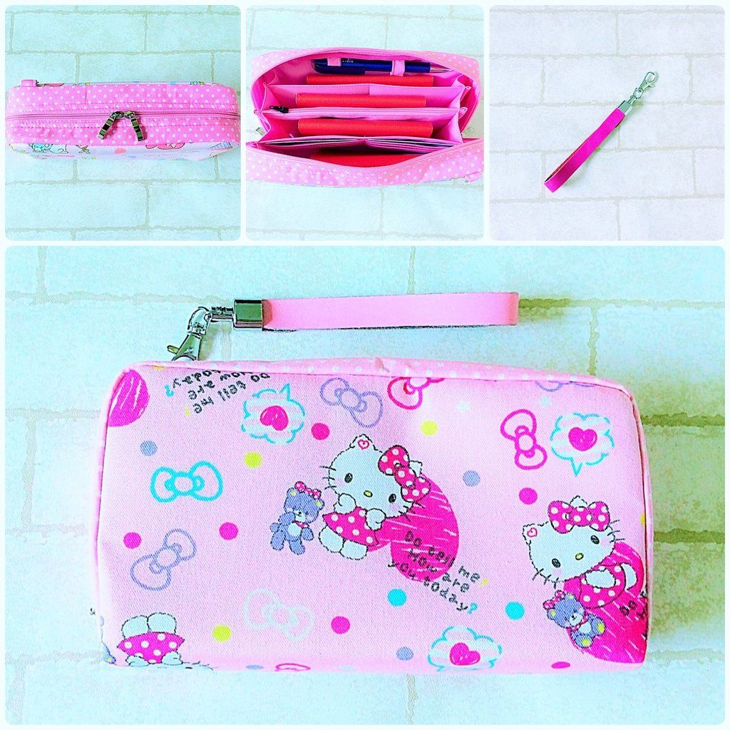 Family passport pouch pink hello kitty design 01
