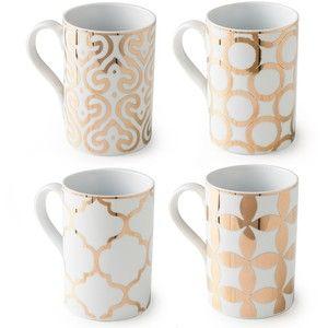 Rosanna Luxe Moderne Mugs Set of 4