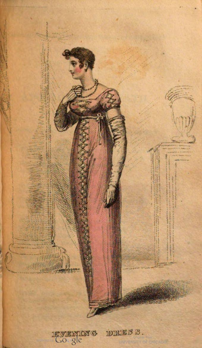 September Evening Dress 1812 Fashion