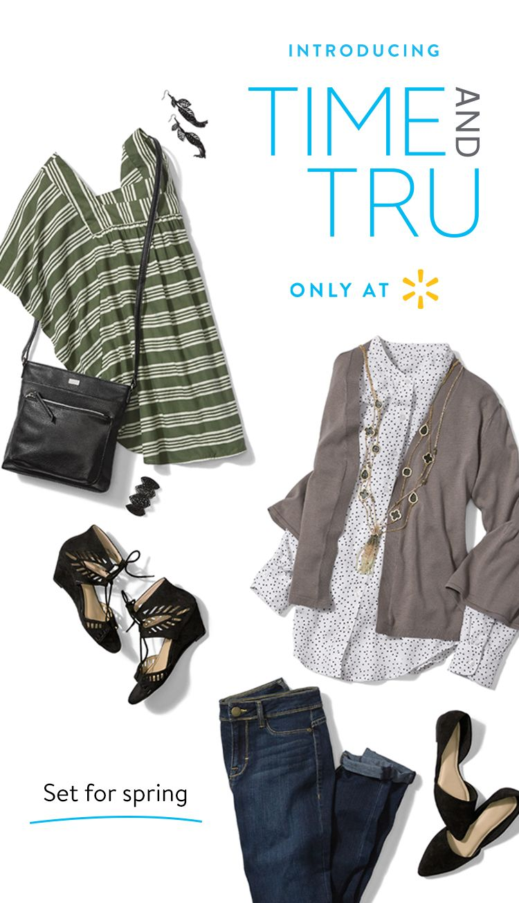 9cbdcb922db96 Every day s a stylin  day with Time and Tru Women s apparel. Start with  Indigo Jeans