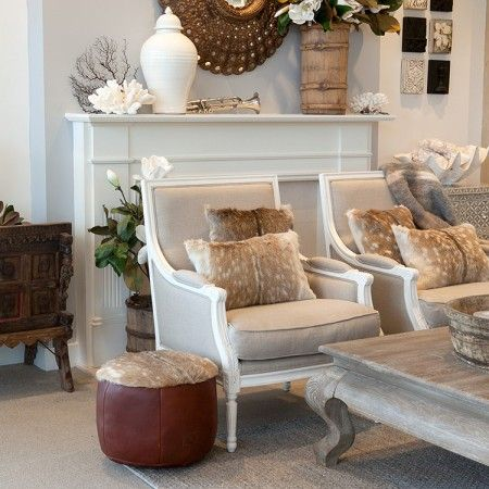 Hudson Furniture Florida Chair Linen U0026 White Styled One