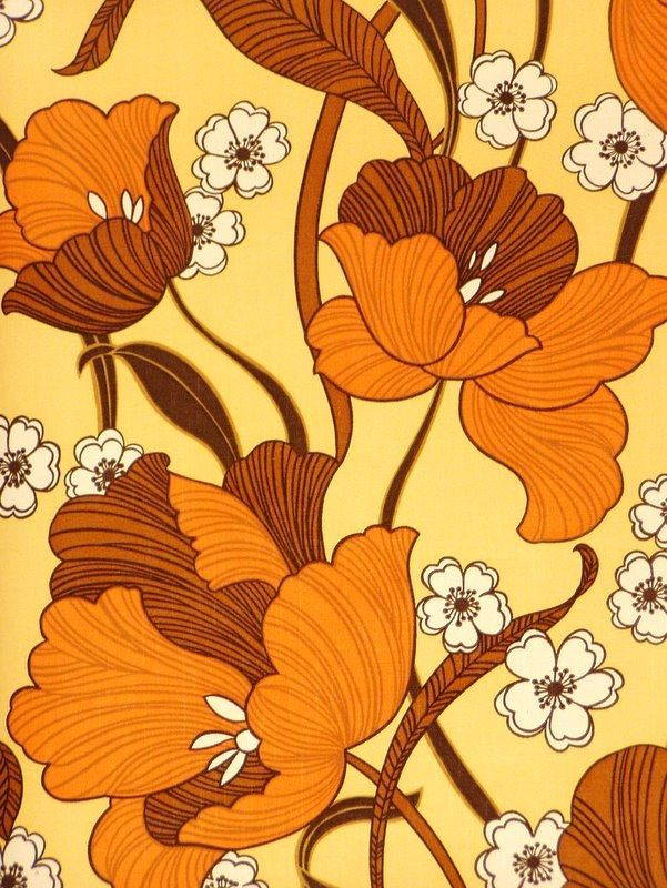 Seamless Retro Pattern With Flowers And Leaves 11