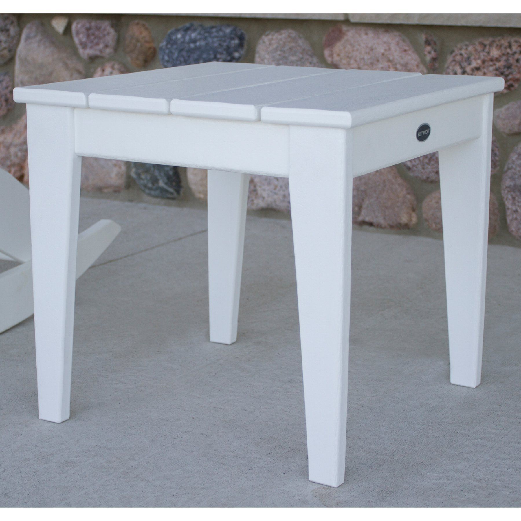 Outdoor POLYWOOD® Modern Patio Side Table MNT18BL