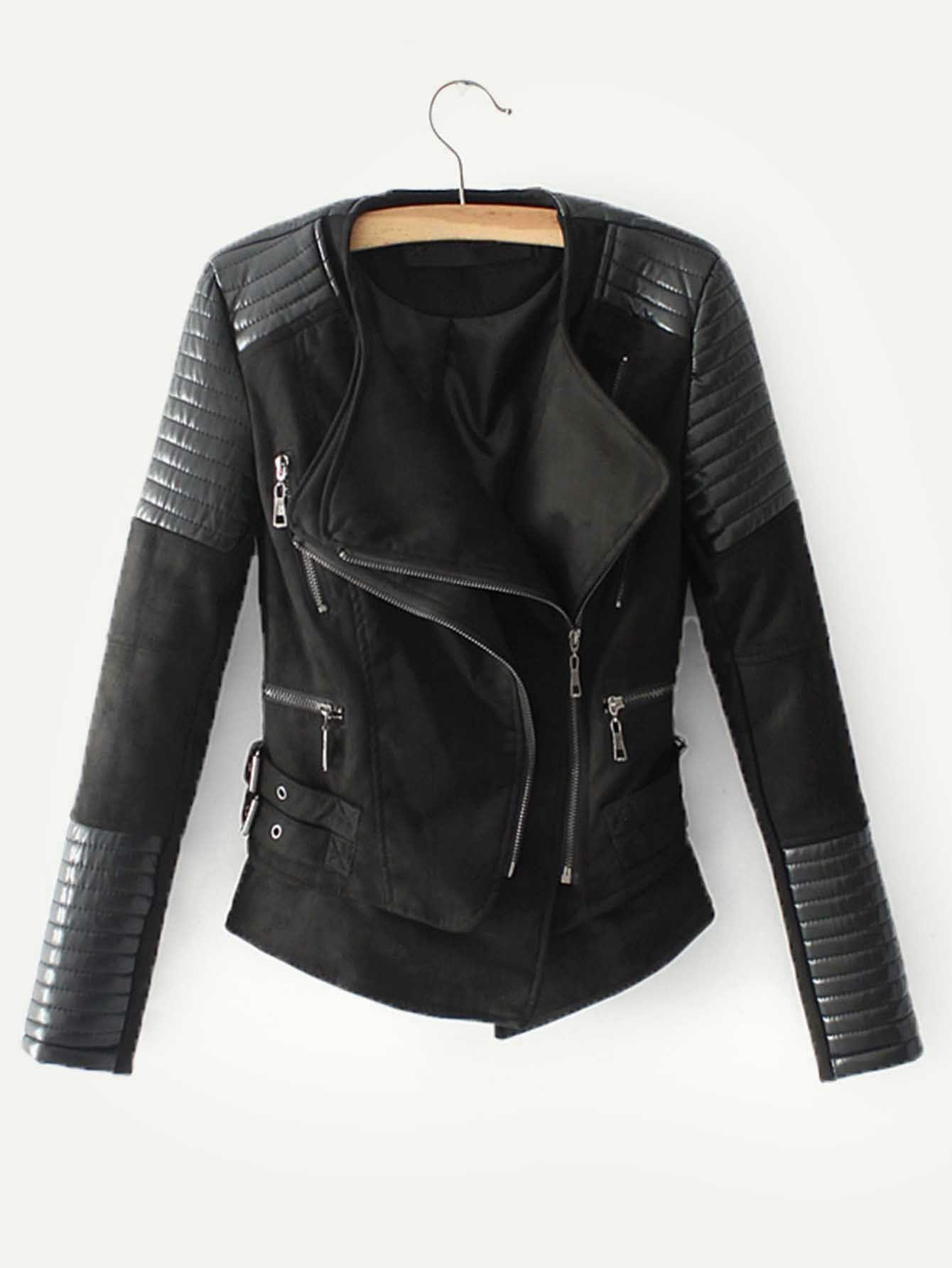 HYDSFG Spring Autumn Leather Jacket Women Long Sleeve Zipper Brown Faux Leather Coats Ladies Motorcycle Biker
