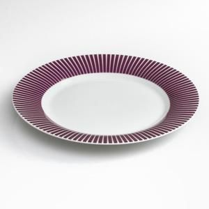 """Lot de 6 Assiettes à Dessert """"Baya"""" Violet"""