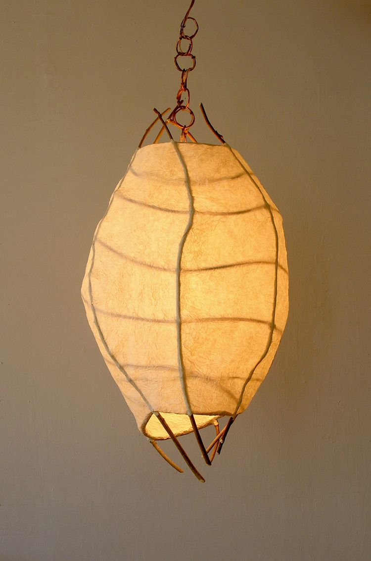Lighting Pendants Created With Natural Materials Birch Willow Studio In 2020 Paper Lamp Paper Lanterns Lamp