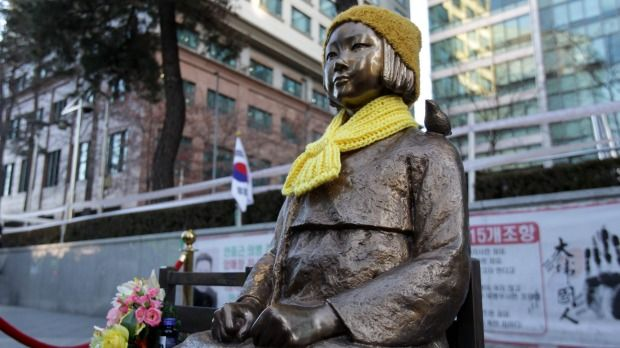 A Statue Of A Girl Symbolising The Issue Of Comfort Women In
