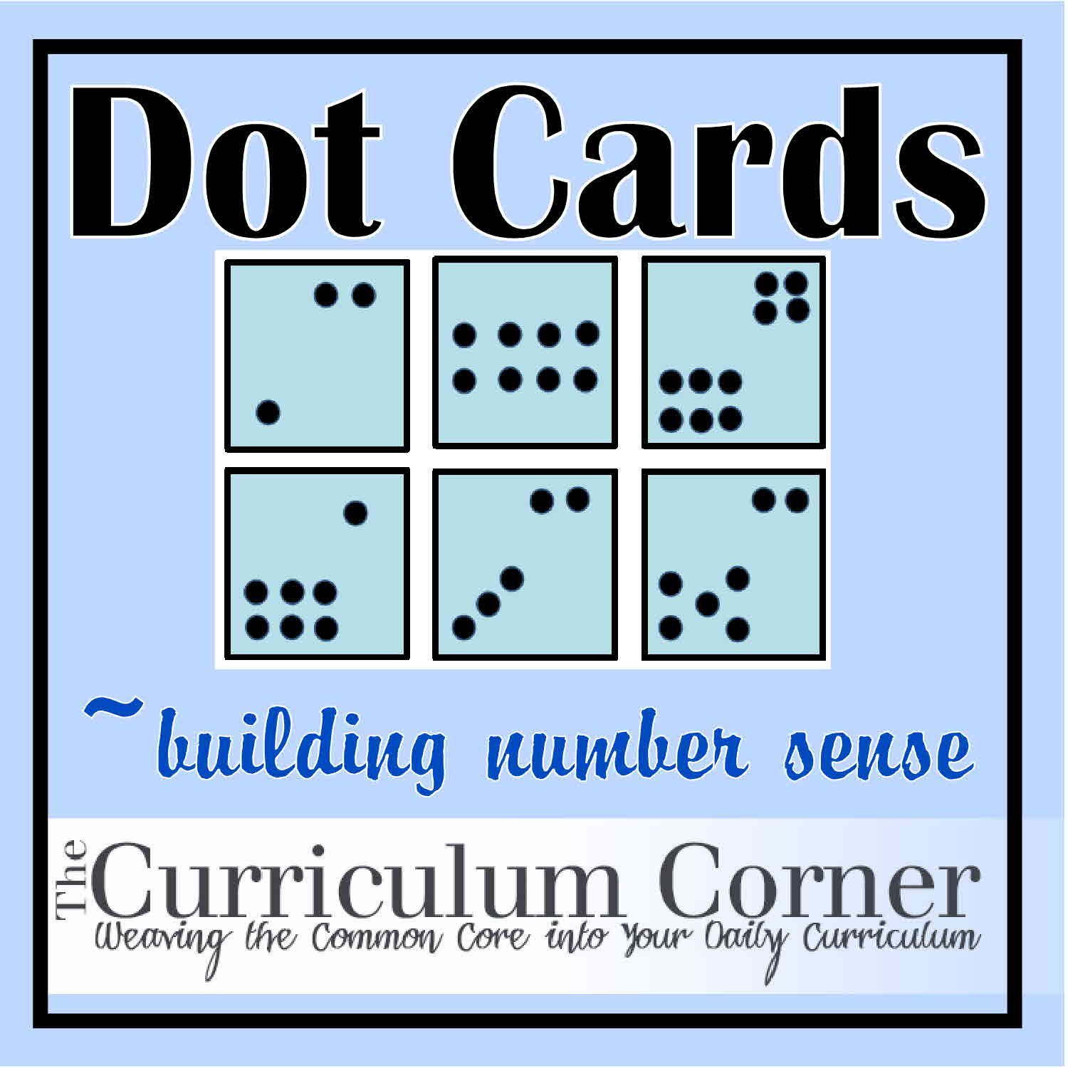 dot cards ten frames math and number sense